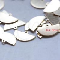 CW-3120C-F-609 20 Pieces Raw Brass Charm Oval 33x13.5mm