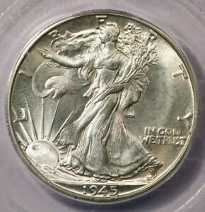 1945-D 1945 Walking Liberty Half Dollar ICG MS65