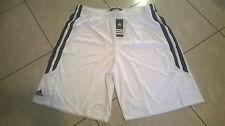 Bermuda uomo ADIDAS modello da basket bianchi con striscie nere