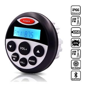 Marine Waterproof Audio MP3 Stereo Radio Boat Receiver AM/FM Bluetooth USB