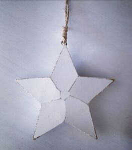 White Wooden Star Home Decoration