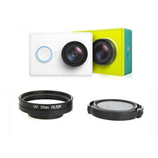37mm UV Lens Filter + Protective Cap + Lens Ring Adapter for Xiaomi Yi Camera