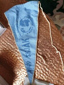 VINTAGE SCOUT PENNANT/FLAG--NORGE 1949--WORLD ROVER MOOT