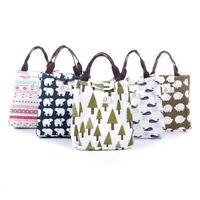6 Designs Portable Insulated Lunch Bag Thermal Food Picnic Cooler Lunch Box Tote