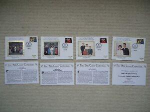 4X 1992 Harry Allen 'SILKS' PRINCESS ANNE & Tim Laurence Royal Wedding covers.