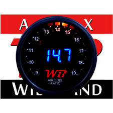 APSX D2 Digital Wideband O2 Air Fuel Ratio Controller Gauge (Black-Blue)