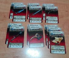 EQUIPMENT CARDS FRIENDS and FOES (13) Eng / Zombicide Black Plague / Green Horde