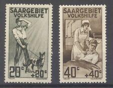 Saargebiet Mi.Nr. 104 I und 105 II aus Volkshilfe 1926 ungebraucht * (27643)