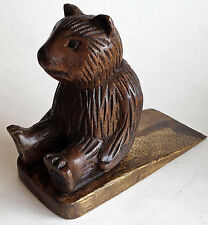 DOOR STOPPER - WOODEN BEAR DOOR STOP - BEAR DOORSTOP