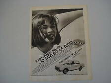 advertising Pubblicità 1964 AUTO UNION DKW F 102