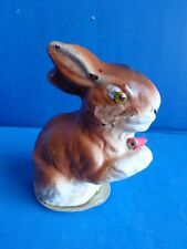 Vintage Easter Bunny Rabbit Paper Mache Candy Container