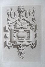 44d-6 Gravure 19éme détail d'architecture