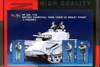Hobby Fan 1/35 HF-586 WWII British Churchill Tank Crew (II) West Front - 3 Figs