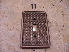 Bronze Switch Plate Ribbon and Reed Brainerd WP1752T