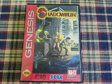Shadowrun - Authentic - Sega Genesis - Case / Box Only!