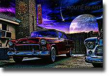 ROUTE 66 CHEVY BEL AIR PRINT