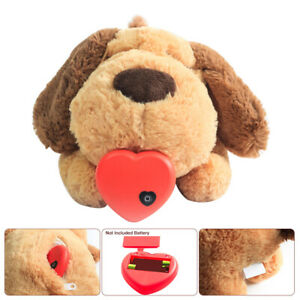 Plush Puppy Behavioral Aid Toy Living Room Dogs Cats With Heartbeat AU