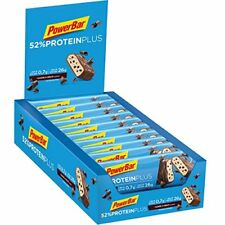 PowerBar 52% Protein Plus Bar - Low Sugar High Protein - Cookies & Cream 20x