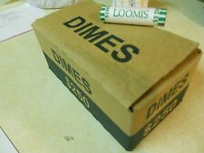 One Box (50 Rolls $250) Unsearched Roosevelt Dimes, Bank Rolled, Denver Area