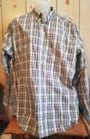 Wrangler Rugged Wear Plaid Long Sleeve Button Down Mens Shirt Size 3XLT