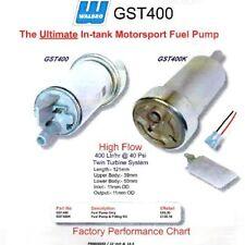 WALBRO IN-TANK 400 LPH pompa benzina + KIT DI MONTAGGIO Motorsport Universale' E10 gst400k
