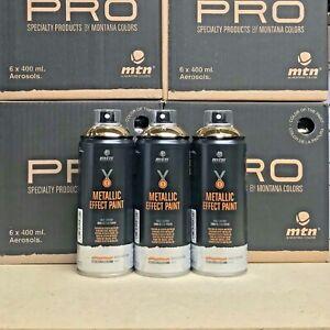3x Mtn Pro Metallic Effect Spray by Montana Colors - 400ml