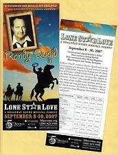 "Randy Quaid ""LONE STAR LOVE"" Lauren Kennedy / Dee Hoty 2007 FLOP Tryout Flyer"