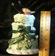 2002 Blue Sky Clayworks May Birthday Cake Tea Light Holder Heather Goldminc