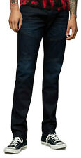 True Religion Men's Rocco Moto Skinny Fit Stretch Jeans in Greatest Blue