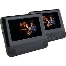 "BUSH 7"" 8737 Twin 2 Screen in car DVD USB Players Multi Region C75"