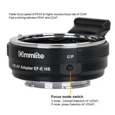 Commlite CM-EF-E HS High Speed AF Adapter for Canon EOS Lens to Sony E mount USB