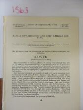 Govt Report Indian Territory Kansas City, Pittsburgh and Gulf Railroad Co #1563