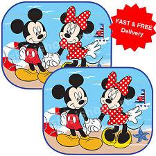2 x DISNEY Minnie Mickey Sea Car Window Sunshades UV Blinds Children Kids Baby