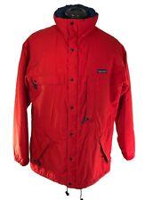 Vintage 1990's PATAGONIA Red Winter Parka Snow Jacket Coat sz Large / XL 90s VTG