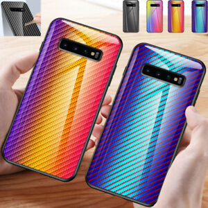 For Samsung Galaxy Phones Shockproof Tempered Glass Silicone Hybrid Case Cover