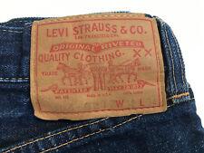 True Vintage Levis 505-0217 Selvage dark blue denim Usa Big E 501