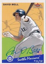 David Bell Seattle Mariners 2002 Fleer Tradition Autographed Baseball Card