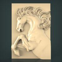 (1265) STL Model Horse for CNC Router 3D Printer Artcam Aspire Bas Relief