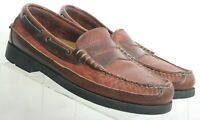 Sperry Top-Sider Wetlands Brown Moc Toe Penny Loafers 0672915 Men's US 8 M