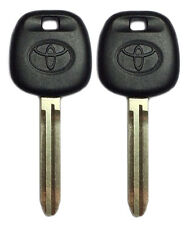 Set of 2 Toyota TOY43AT4 / 692062 Transponder Key 4C Chip USA Seller