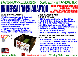 UNIVERSAL TACH ADAPTER / CONVERTER, COP-1-2-3-4-5-6-8-10 cyl to any 4-6-8 Tach