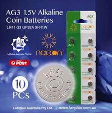10 X AG3 1.5v LR41 AG-3 L736 392 SR41 192  35mAh Alkaline Button Coins Battery