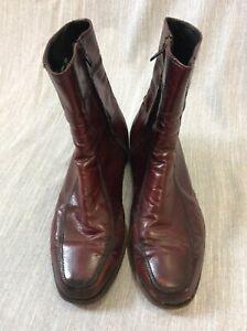 Vintage Zipper Half Boot ox blood 9 3E burgundy leather western slick 60 70s buy