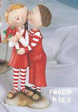 Bomboniera matrimonio o San valentino coppia innamorati con mazzo di rose