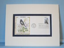 State Bird & Flower - Colorado- Lark Bunting & Rocky Columbine & First Day Cover