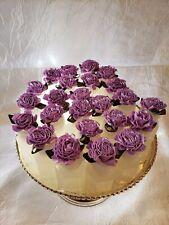 Bubbles - Satin Flower Top - Purple