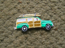 Vintage woody wagon ford surfing jacket patch surfboard longboard surfer surf