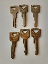 6 old vintage Car Keys 4marked FORD 1950s-1960s style