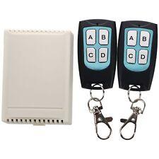 DC 12V 4 Channel 200M Wireless RF Remote Switch 2 Transmitter + Receiver J3A3