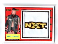 WWE Eric Young 2017 Topps Heritage NXT Com Patch Relic Card SN 68 of 299